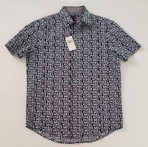 Michael Kors Mens Button up short sleeve shirt